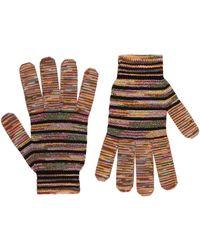 Missoni Crochet Knit Gloves - Multicolour