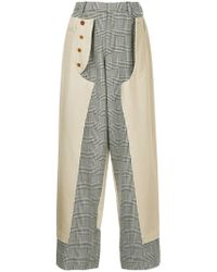 Kolor - Panelled Trousers - Lyst