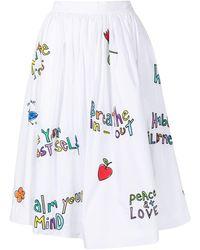 Mira Mikati Wellness-print Skirt - White