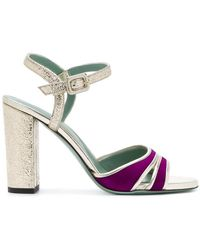 Paola D'arcano - Metallic Two-tone Sandals - Lyst