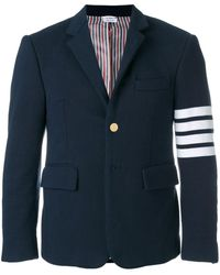 Thom Browne 4-bar Jersey Sport Coat - Blue