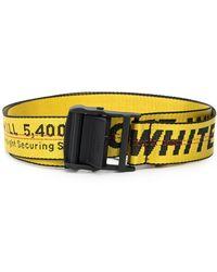 Off-White c/o Virgil Abloh Adjustable Industrial Logo Belt - Yellow
