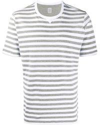 Eleventy ストライプ Tシャツ - グレー