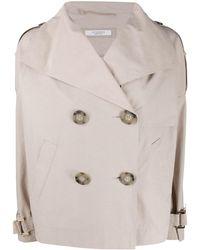 Peserico オーバーサイズ トレンチジャケット - ナチュラル
