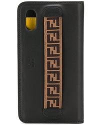 Fendi Telefoonhoesje Met Logo - Zwart