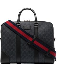 Gucci GG Supreme Briefcase - Black