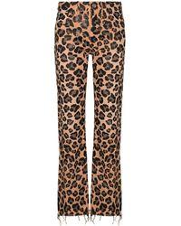 Alanui Leopard-print Jeans - Brown