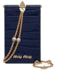 Miu Miu パスケース - ブルー