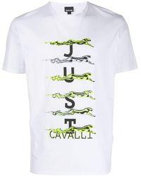 Just Cavalli - ロゴプリント Tシャツ - Lyst
