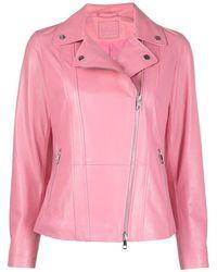 DESA NINETEENSEVENTYTWO Stud-embellished Biker Jacket - Pink