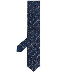 Hermès Cravate à imprimé singe pre-owned - Bleu