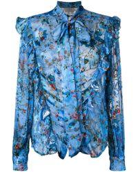 Preen By Thornton Bregazzi - Zinna Floral Printed Blouse - Lyst