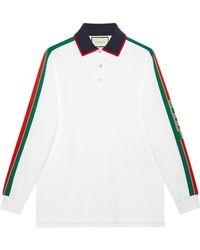 Gucci - ストライプ ロングスリーブ ポロシャツ - Lyst