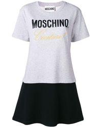 Moschino - エンブロイダリー Tシャツドレス - Lyst