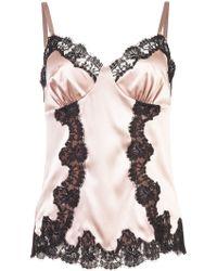 Dolce & Gabbana Caraco à détail en dentelle - Rose