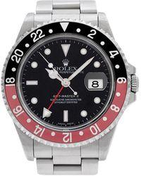 Rolex Black Stainless Steel Gmt Master Men's Wristwatch 40mm