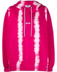 MSGM Hoodie Met Tie-dye Print - Roze