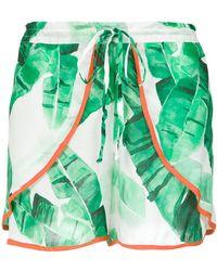 Brigitte Bardot - Foliage Print Shorts - Lyst