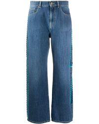 P.A.R.O.S.H. Ceans Cropped Jeans - Blue