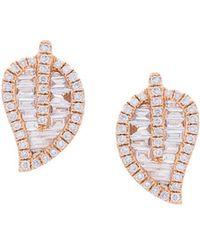 Anita Ko - Leaf Stud Earrings - Lyst