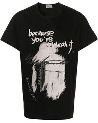 Yohji Yamamoto Worth It Tシャツ - ブラック