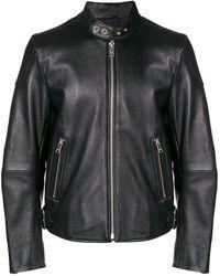 DIESEL L-rushis レザージャケット - ブラック