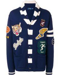 Polo Ralph Lauren ショールカラーカーディガン - ブルー
