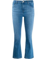 J Brand Selena Cropped Jeans - Blue