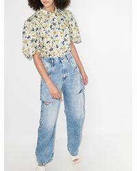 ANOUKI フローラル Tシャツ - ホワイト