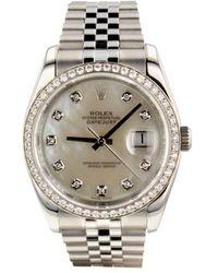 Rolex Reloj Datejust de 36mm 2016 - Blanco