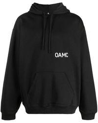 OAMC ロゴ プリント パーカー - ブラック