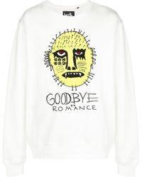 Haculla Goodbye Romance スウェットシャツ - ホワイト