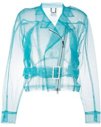Aviu - Sheer Biker Jacket - Lyst