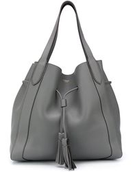Mulberry Millie Drawstring Tote Bag - Gray