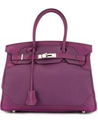 Hermès Сумка Birkin 30 - Пурпурный