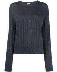 Brunello Cucinelli Пуловер С Расклешенными Манжетами - Синий