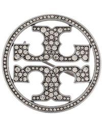 Tory Burch ロゴ ブローチ - メタリック