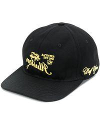 Raf Simons 刺繍コットンベースボールキャップ - ブラック