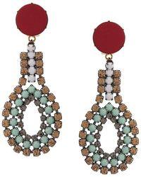 Marni - Beaded Drop Earrings - Lyst