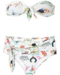 Isolda Borakay Lycra Bikini Set - White