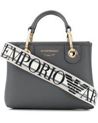 Emporio Armani ロゴ ハンドバッグ - グレー