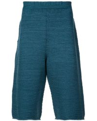 Homme Plissé Issey Miyake - Knitted Knee-length Shorts - Lyst