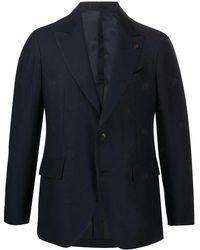 Gabriele Pasini Skull Embroidered Single Breasted Blazer - Blue