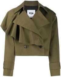 MSGM - Asymmetric Ruffled Detail Jacket - Lyst