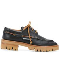 DSquared² Chunky Sole Lace-up Shoes - Black
