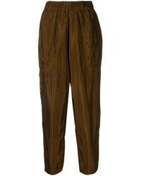 Uma Wang Tapered Cropped Pants - Brown