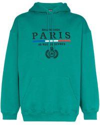 Balenciaga Худи С Вышитым Логотипом - Зеленый
