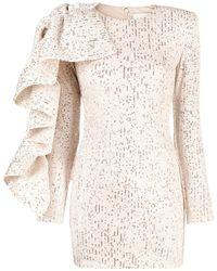Loulou Sequinned Ruffle-embellished Dress - Metallic