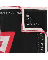 Givenchy - Fular con logo estampado - Lyst