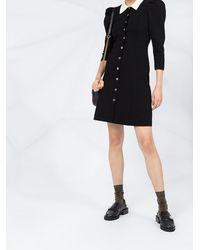 Sandro コントラストカラー ドレス - ブラック